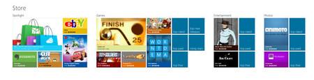 Portada de Windows Store con zoom out
