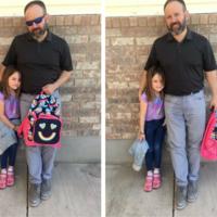 Lo que hizo este padre es genial: su hija se hizo pis encima y él fue a buscarla al colegio con los pantalones mojados