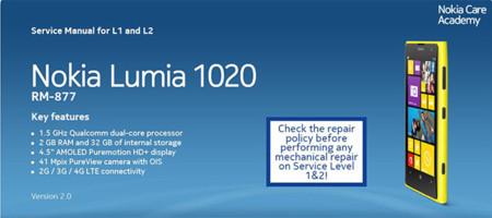 Nokia desmonta el Nokia Lumia 1020 y distribuye la guia de reparación detallada