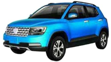 Encuentra las 7 diferencias: Jiangsu Lake SUV vs. Volkswagen Taigun