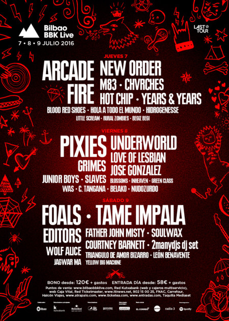 Bilbao Bbk Live 2016 Confirmaciones Abril