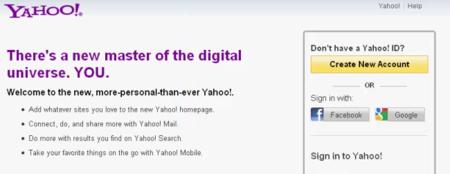 Yahoo permite acceder a sus servicios con cuentas de Google o Facebook