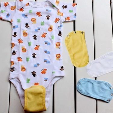 Extensores para body, o como alargar la vida útil de las prendas de tu bebé