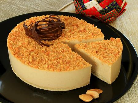 Tarta De Turron Fit Estilo Cheesecake Sin Horno