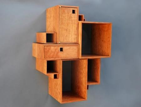 composicion de estantes y puertas