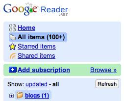 Novedades en Google Reader