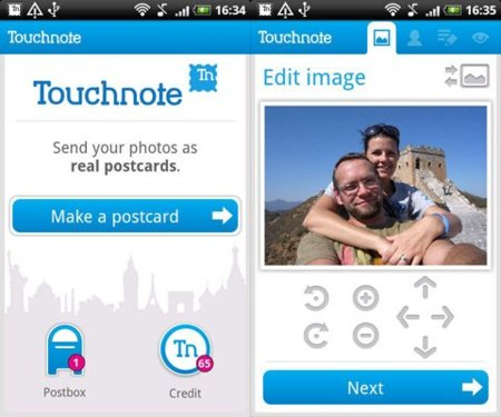 Touchnote para Android