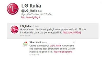 LG Italia anuncia que el root y las custom ROMs no inhabilitarán la garantía