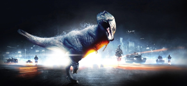 Battlefield 3 y los dinosaurios