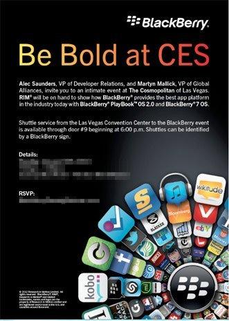 RIM presentará BlackBerry Playbook OS 2.0 en el CES 2012