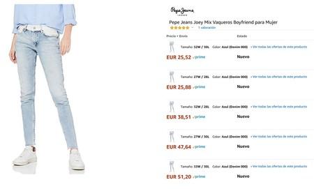 12 Ofertas De Pantalones Vaqueros Para Hombre Y Mujer Por Menos De 30 Euros En Amazon Marcas Como Pepe Jeans Lee Only O Springfield