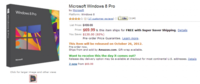 Windows 8 Pro ya se puede reservar, Amazon confirma embalaje y precio
