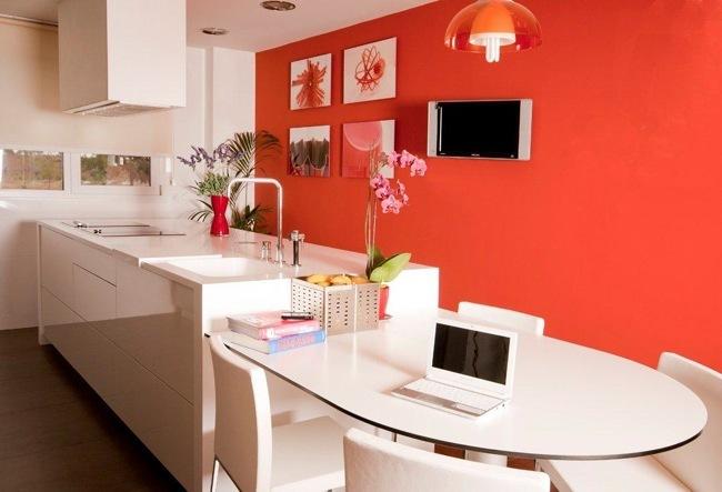 Una cocina primaveral llena de flores y detalles de color - Colores para pintar una cocina ...