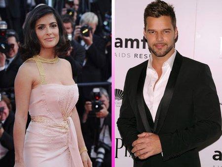 Salma Hayek y Ricky Martin los mejor vestidos para People... qué curioso
