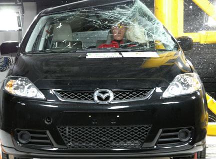 Mazda 5 - EuroNCAP poste lateral