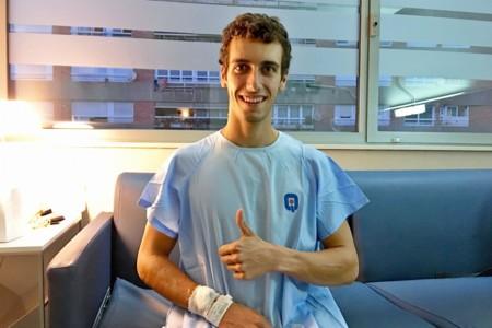 Álex Rins se fractura la clavícula entrenando, estará en Silverstone pero muy justo