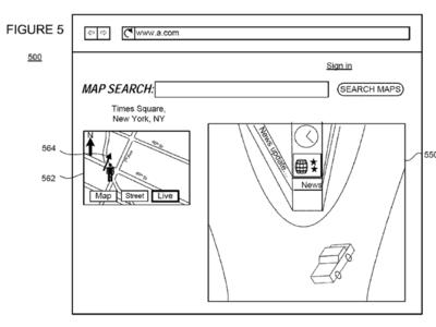 """Una patente de Google describe cómo podríamos obtener fotos """"casi en directo"""" de los lugares de un mapa"""