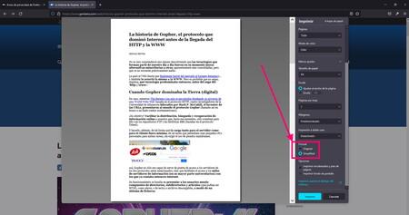 Firefox impresión