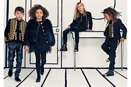 Oliver Rousteing enlista a los más pequeños en la colección Kids de Balmain