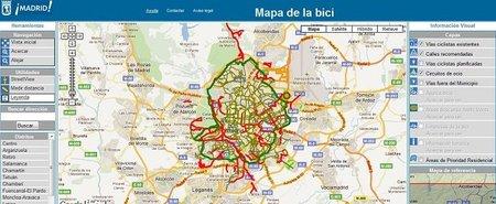 Mapa de la Bici de Madrid: recorre la capital española sobre ruedas