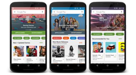 Así luce la renovada Google Play