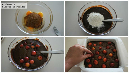 Brownie de cerezas