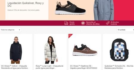 11 chollos en la liquidación de temporada de Quiksilver, Roxy y DC Shoes en eBay. Envío gratis