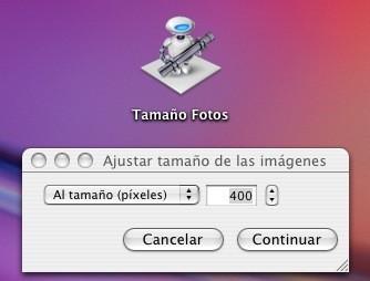 Cambia el tamaño de tus fotos con Automator