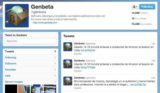 twitter perfil