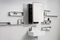 Una buena idea: un espejo extensible de pared