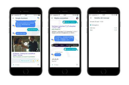 Allo: integración de YouTube y datos del mensaje