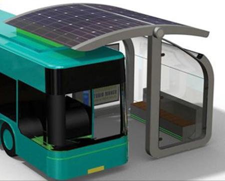 parada de bus solar