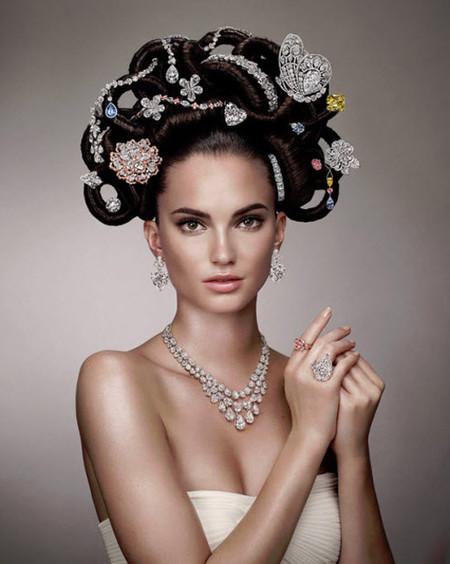 Para celebrar su 60 Aniversario la firma Graff Diamonds crea un nuevo peinado decorado con diamantes