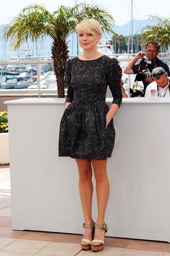 El sofisticado look de Michelle Williams en el Festival de Cannes 2010