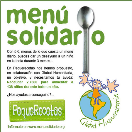 El menú solidario de PequeRecetas