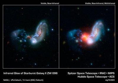 Spitzer localiza el objeto más brillante del Universo local