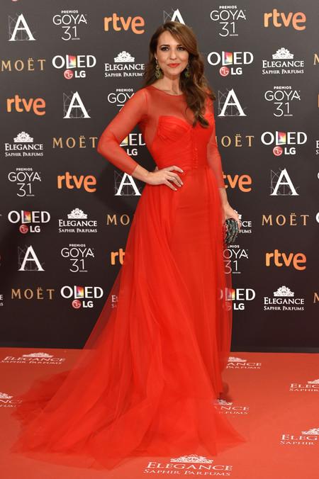 paula echevarria look alfombra roja