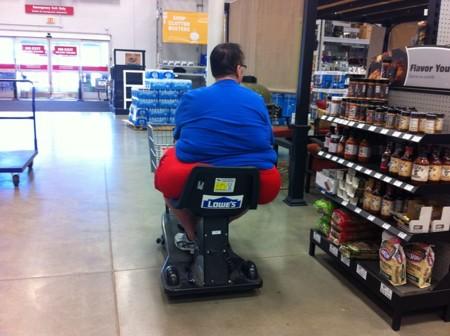 Hombre obeso en un supermercado | Wikipedia