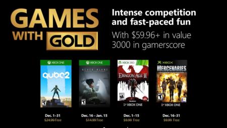 Q.U.B.E. 2 y Dragon Age II entre los juegos de Games With Gold en diciembre de 2018