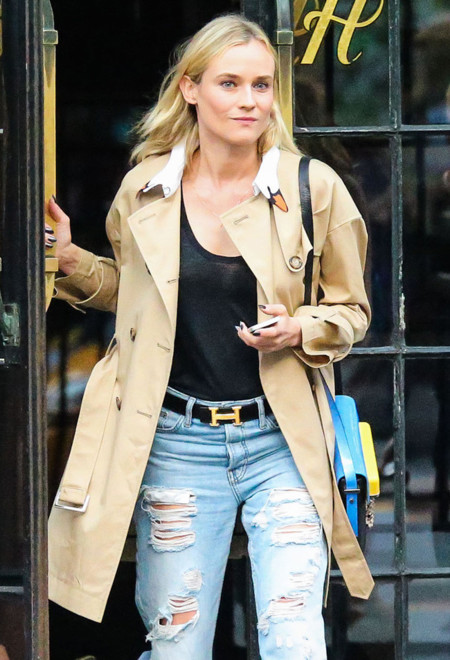 ¿Dudas con los jeans rotos? Diane Kruger se los lleva de calle