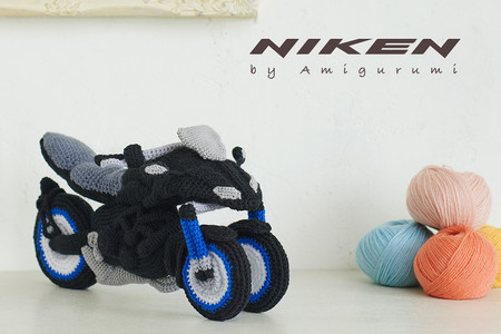 Maestros de la costura edición moto, o todo lo que necesitas para fabricar una Yamaha Niken de ganchillo