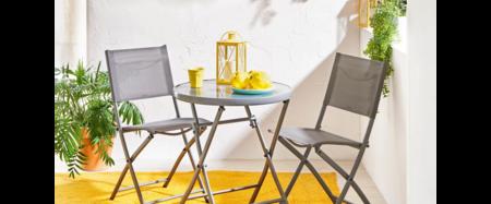 Mesa y sillas para terraza pequeña