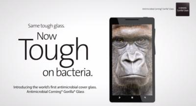 Gorilla Glass protegiéndote ahora de los gérmenes de tu pantalla
