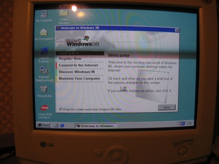Welcome Screen de Windows 98
