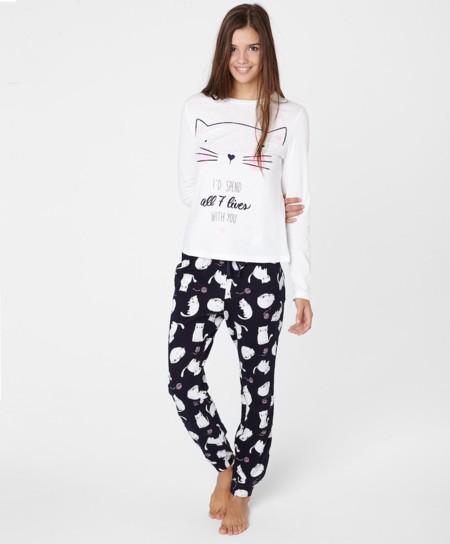 Pijama Gatos Oysho