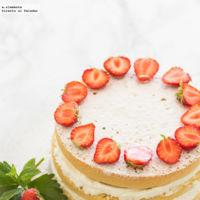 Victoria Sponge Cake con fresas. Receta