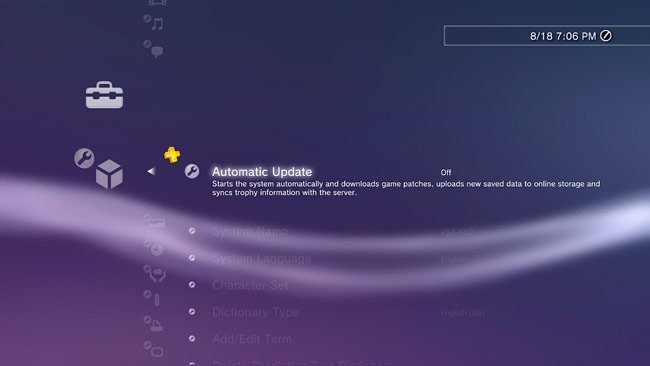 Automatic Update PS3