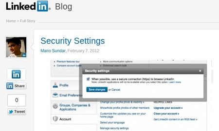 LinkedIn comienza a ofrecer conexiones seguras de datos