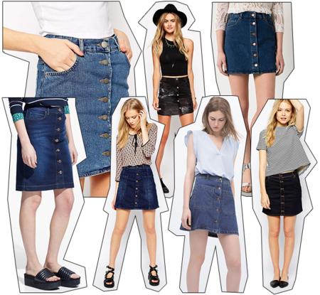 01d04c756 Las faldas denim con botones son la nueva tendencia viral, ¿quieres ...