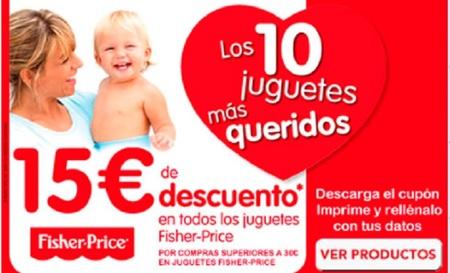 15 euros de descuento en artículos Fisher-Price en Toys 'r' us